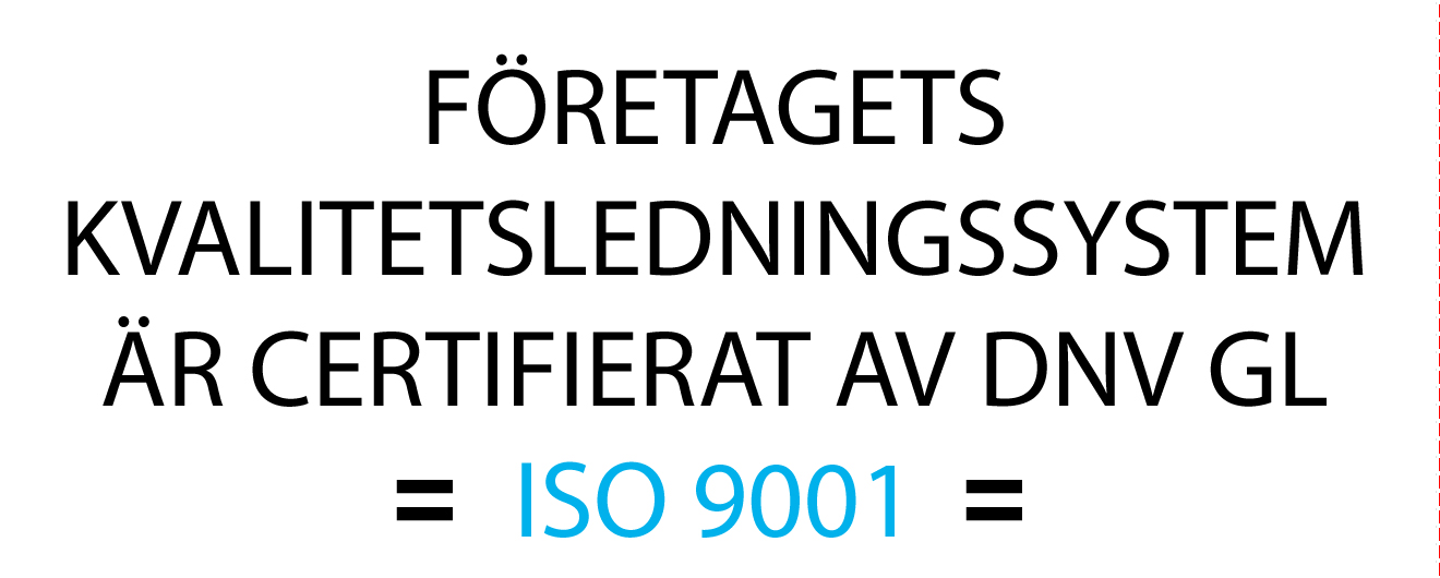 Inskripation ISO 9001